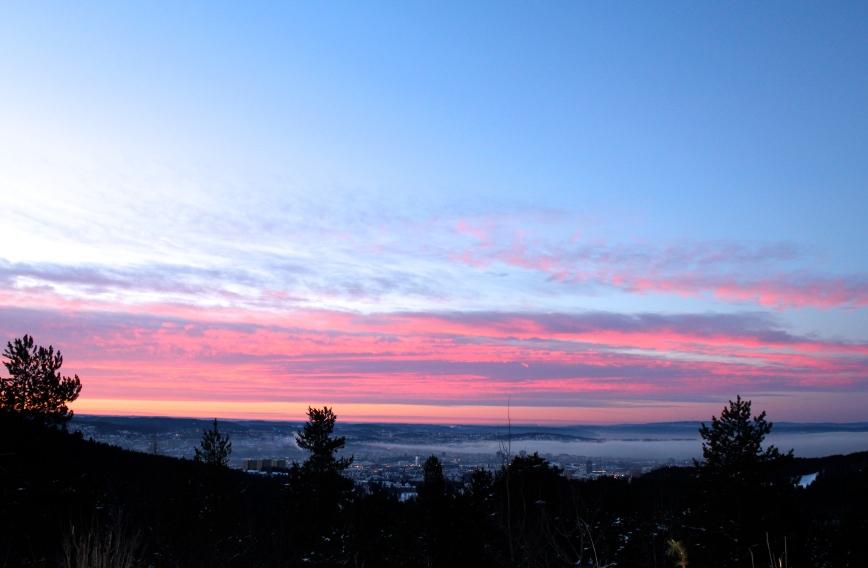 Soloppgang over Oslo